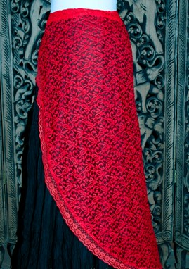 Hip Scarf In Lace Fabric