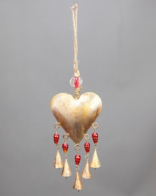 Heart Chime With Beads