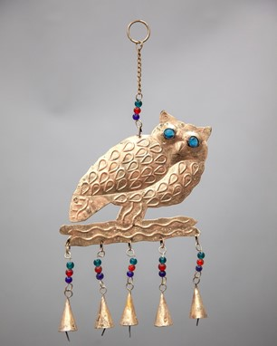 Owl Chime With Beads